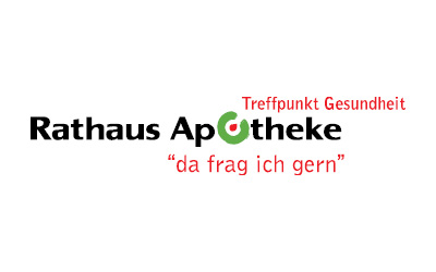 Logo Rathausapotheke mit Slogan