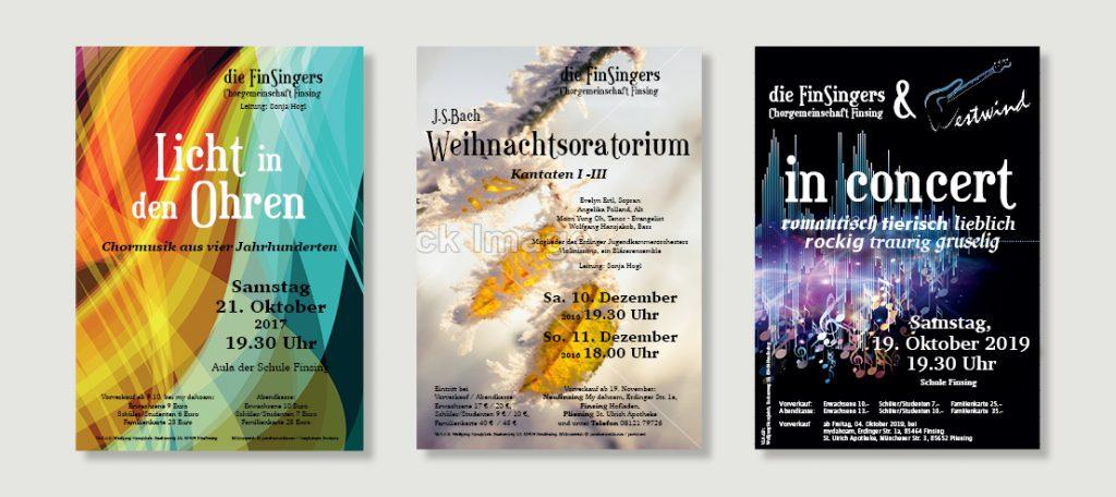 Plakate Chorkonzerte